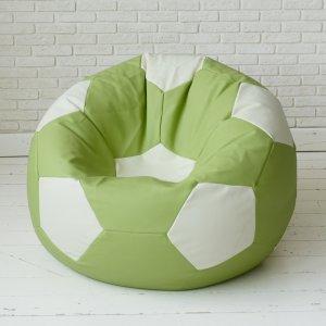 """Футбольный мяч """"Lime"""", ЭКОКОЖА, цв. салатовый с белым"""