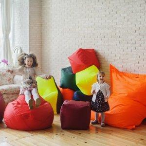 """Большое кресло-подушка """"БЛЮЗ"""", цв. красный"""