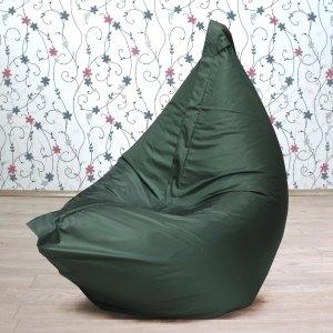 """Большое кресло-подушка """"БЛЮЗ"""", цв. темно-зеленый"""