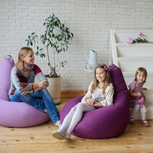 Кресло-груша БИНБЕГ, цв. синий