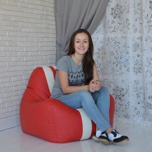 Гоночное кресло, цв. красный с белым