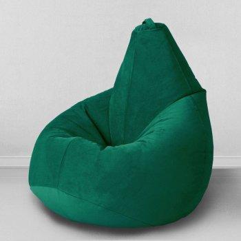 Большое кресло-груша «Спайк», цв.темный изумруд