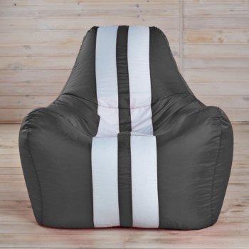 Гоночное кресло, цв. черный с белым
