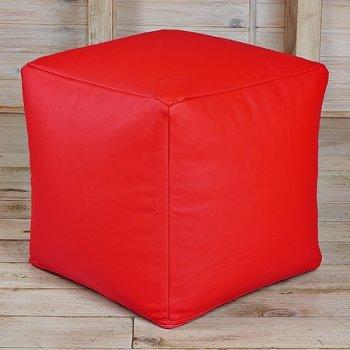 Кубик 45x45, экокожа, цв. красный