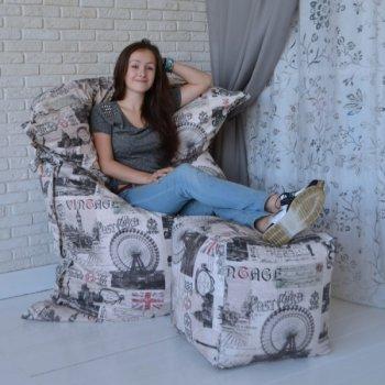 """Большое кресло-подушка """"ЛОНДОН"""""""