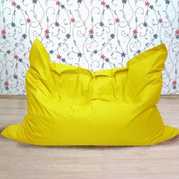 """Большое кресло-подушка """"БЛЮЗ"""", цв. желтый"""