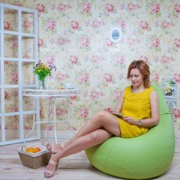 Кресло-груша БИНБЕГ, цв. яблоко