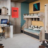 Набор детской мебели «Окланд» №1 (Фон Черный/Дуб Делано)