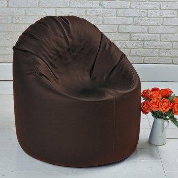 Пуфик MINI, экокожа, цв. шоколад
