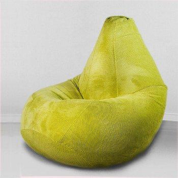 Большое кресло мешок «Велюр», цвет — салатовый