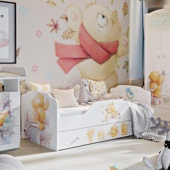Набор детской мебели «Тедди» №1 (Белый с рисунком)