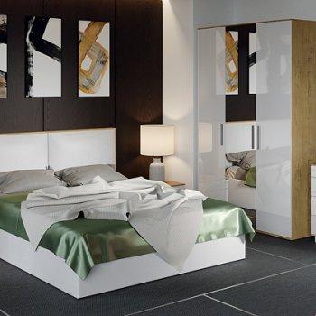 Спальня «Квадро» (Бунратти/Белый глянец)
