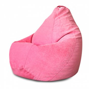 Кресло Мешок Груша Розовый Микровельвет