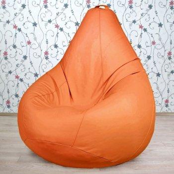 Большое кресло-груша OTTO, экокожа, цв. манго