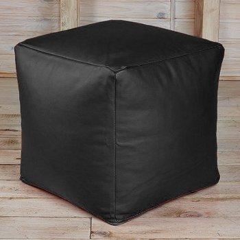 Кубик 45x45, экокожа, цв. черный