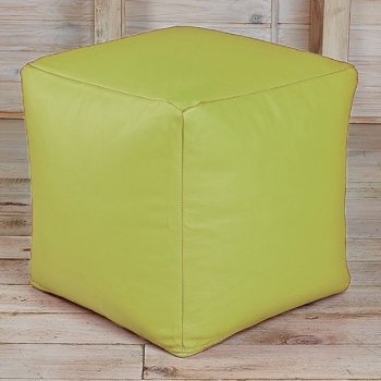 Кубик 45x45, экокожа, цв. салатовый
