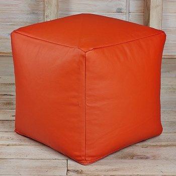 Кубик 45x45, экокожа, цв. манго